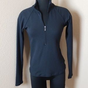 Lucy Long Sleeve Ribbed Partial Zip Top